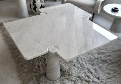 Angelo Mangiarotti Angelo Mangiarotti Eros Collection Freccia White Carrara Marble Coffee Table - 1117139