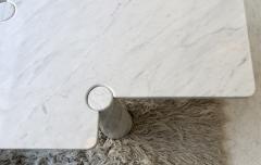 Angelo Mangiarotti Angelo Mangiarotti Eros Collection Freccia White Carrara Marble Coffee Table - 1117140