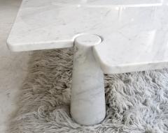 Angelo Mangiarotti Angelo Mangiarotti Eros Collection Freccia White Carrara Marble Coffee Table - 1117141
