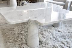 Angelo Mangiarotti Angelo Mangiarotti Eros Collection Freccia White Carrara Marble Coffee Table - 1117142