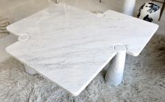 Angelo Mangiarotti Angelo Mangiarotti Eros Collection Freccia White Carrara Marble Coffee Table - 1117143