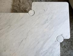 Angelo Mangiarotti Angelo Mangiarotti Eros Collection Freccia White Carrara Marble Coffee Table - 1117144
