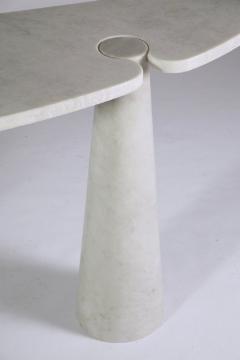 Angelo Mangiarotti Angelo Mangiarotti Italian White Carrara Marble Console - 1213857