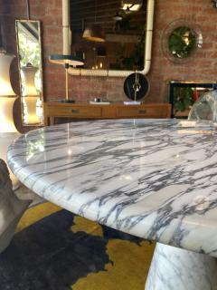 Angelo Mangiarotti Angelo Mangiarotti Marble Round Dining Table 1970s - 2010257