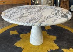 Angelo Mangiarotti Angelo Mangiarotti Marble Round Dining Table 1970s - 2010259