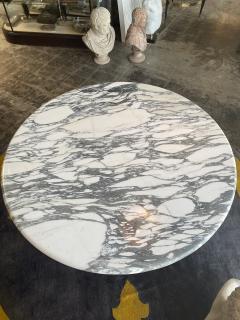 Angelo Mangiarotti Angelo Mangiarotti Marble Round Dining Table 1970s - 2010267