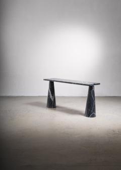 Angelo Mangiarotti Angelo Mangiarotti black marble console table - 2123575