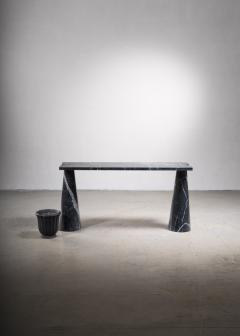 Angelo Mangiarotti Angelo Mangiarotti black marble console table - 2123576