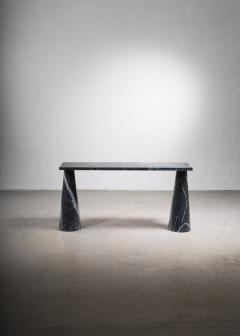Angelo Mangiarotti Angelo Mangiarotti black marble console table - 2123577