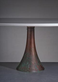Angelo Mangiarotti Angelo Mangiarotti bronze and marble coffee table for Bernini - 1951754