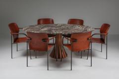 Angelo Mangiarotti Angelo Mangiarotti marble table on metallic cast base 1970s - 1291549