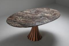 Angelo Mangiarotti Angelo Mangiarotti marble table on metallic cast base 1970s - 1291550
