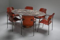 Angelo Mangiarotti Angelo Mangiarotti marble table on metallic cast base 1970s - 1291551