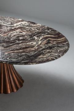 Angelo Mangiarotti Angelo Mangiarotti marble table on metallic cast base 1970s - 1291552