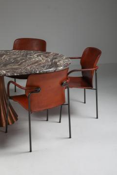 Angelo Mangiarotti Angelo Mangiarotti marble table on metallic cast base 1970s - 1291553