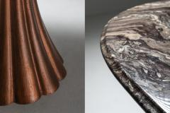 Angelo Mangiarotti Angelo Mangiarotti marble table on metallic cast base 1970s - 1291555