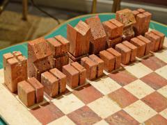 Angelo Mangiarotti Chess in travertino by Angelo Mangiarotti circa 1950 - 955699
