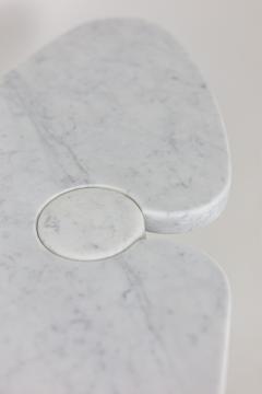 Angelo Mangiarotti Console Eros in Calacatta white marble 1970s - 2119970