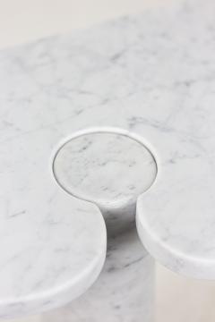 Angelo Mangiarotti Console Eros in Calacatta white marble 1970s - 2119971