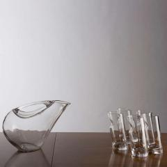 Angelo Mangiarotti Crystal Pitcher and Glasses by Angelo Mangiarotti - 770094