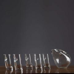 Angelo Mangiarotti Crystal Pitcher and Glasses by Angelo Mangiarotti - 770099