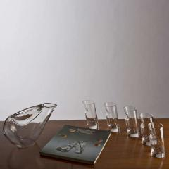 Angelo Mangiarotti Crystal Pitcher and Glasses by Angelo Mangiarotti - 770100