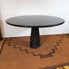 Angelo Mangiarotti Eros Round Table by Angelo Mangiarotti in Black Marquina Marble Italy 1970s - 1260106