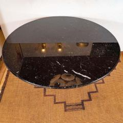 Angelo Mangiarotti Eros Round Table by Angelo Mangiarotti in Black Marquina Marble Italy 1970s - 1260108