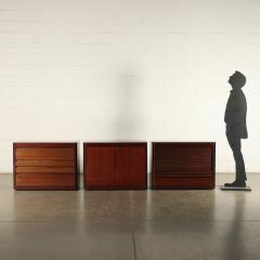 Angelo Mangiarotti Furniture Angelo Mangiarotti Veneered Wood Giussano Italy 1970s - 2118095