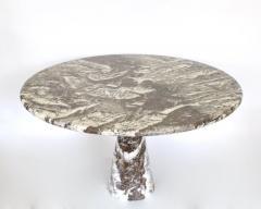 Angelo Mangiarotti ITALIAN VINTAGE MARBLE DINING TABLE MODEL M1T70 EMPERADOR MARBLE - 2094249