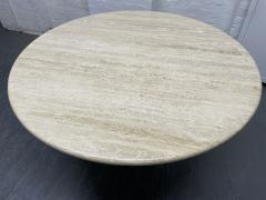 Angelo Mangiarotti Italian Travertine Table style of Angelo Mangiarotti - 2043014