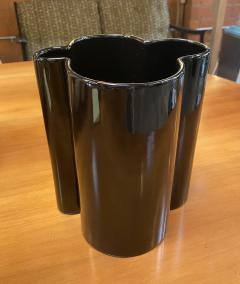 Angelo Mangiarotti M6 Black Wavy Ceramic Vases by Angelo Mangiarotti for Fratelli Brambilla - 1599843
