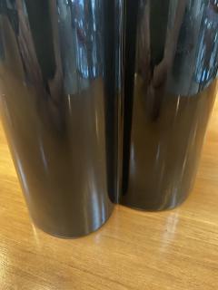Angelo Mangiarotti M6 Black Wavy Ceramic Vases by Angelo Mangiarotti for Fratelli Brambilla - 1599848