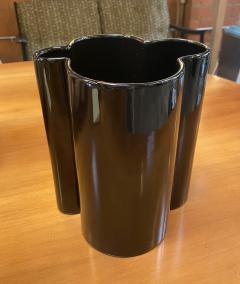 Angelo Mangiarotti M6 Black Wavy Ceramic Vases by Angelo Mangiarotti for Fratelli Brambilla - 1599849
