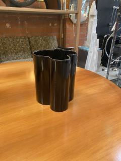 Angelo Mangiarotti M6 Black Wavy Ceramic Vases by Angelo Mangiarotti for Fratelli Brambilla - 1599850
