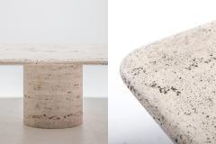 Angelo Mangiarotti Mangiarotti Square Travertine Coffee table for Up Up 1970s - 1006649