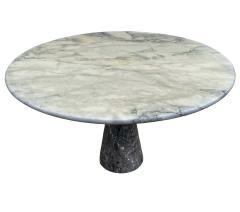Angelo Mangiarotti Mid Century Italian Modern Angelo Mangiarotti Round Marble Dining Table 1972 - 2058949