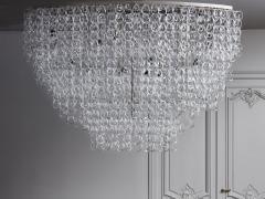 Angelo Mangiarotti Monumental Glass Chandelier by Angelo Mangiarotti for Vistosi - 1927575