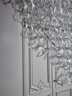 Angelo Mangiarotti Monumental Glass Chandelier by Angelo Mangiarotti for Vistosi - 1927581