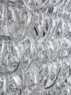 Angelo Mangiarotti Monumental Glass Chandelier by Angelo Mangiarotti for Vistosi - 1927583