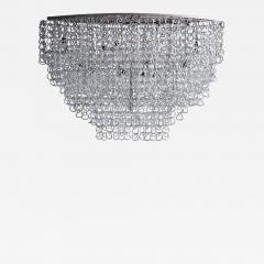 Angelo Mangiarotti Monumental Glass Chandelier by Angelo Mangiarotti for Vistosi - 1929691