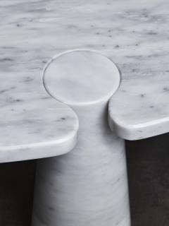 Angelo Mangiarotti Oval Eros Angelo Mangiarotti Carrara Marble Coffee Table - 1933659