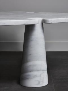 Angelo Mangiarotti Oval Eros Angelo Mangiarotti Carrara Marble Coffee Table - 1933660