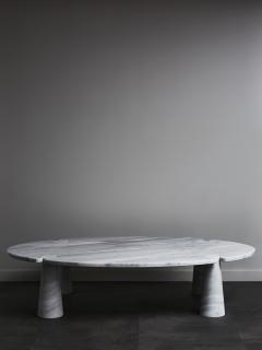 Angelo Mangiarotti Oval Eros Angelo Mangiarotti Carrara Marble Coffee Table - 1933661