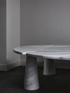 Angelo Mangiarotti Oval Eros Angelo Mangiarotti Carrara Marble Coffee Table - 1933662