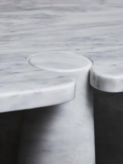 Angelo Mangiarotti Oval Eros Angelo Mangiarotti Carrara Marble Coffee Table - 1933664