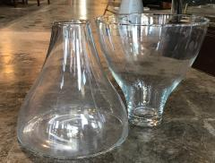 Angelo Mangiarotti Set of Two Murano Glass Vases by Angelo Mangiarotti for Knoll Italy 1960s - 1220531