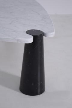 Angelo Mangiarotti Side table by Angelo Mangiarotti series Skipper in marble black and white label - 1606949