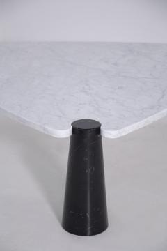 Angelo Mangiarotti Side table by Angelo Mangiarotti series Skipper in marble black and white label - 1606951