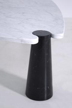 Angelo Mangiarotti Side table by Angelo Mangiarotti series Skipper in marble black and white label - 1606952
